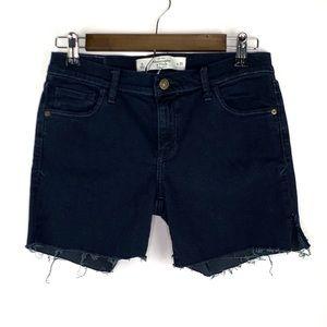 Abercrombie Fitch Raw Hem Jean Shorts Dark Wash 8